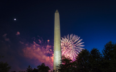 Fireworks captured with the Strike Finder