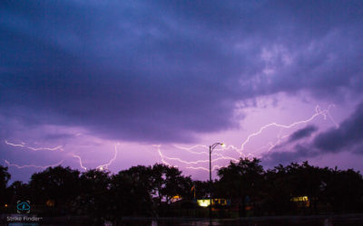 Strike Finder camera trigger in action! Lightning storm, May 29, 2016