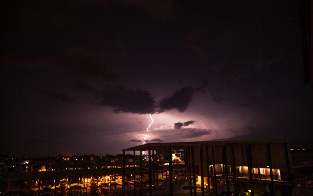 Lightning over Freeport, Texas