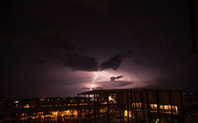 Lightning over Freeport, Texas