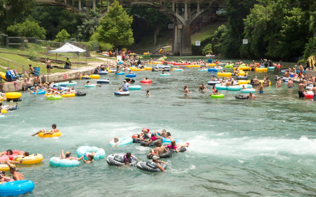 Traffic on the Comal River